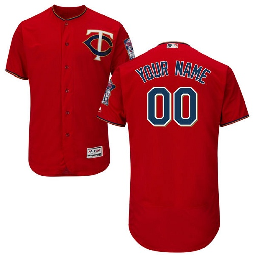 Men s Majestic Minnesota Twins Customized Authentic Scarlet Alternate Cool  Base MLB Jersey 269bde8ac