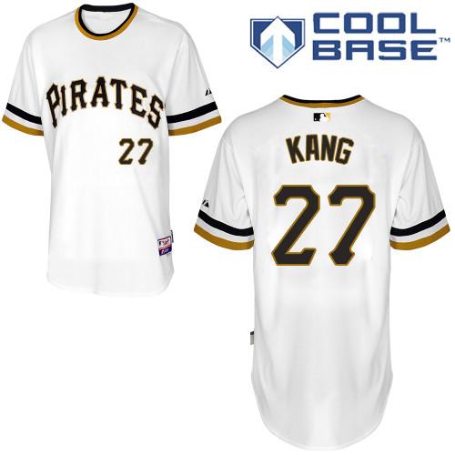 7d3309c92 Men s Majestic Pittsburgh Pirates  16 Jung-ho Kang Replica White Alternate  2 Cool Base