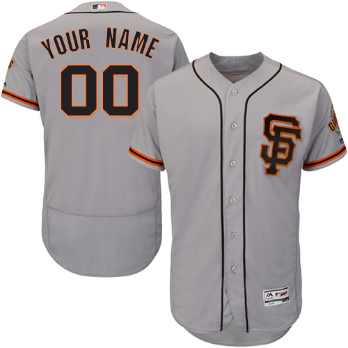 6a7c57167e2 Men s Majestic San Francisco Giants Customized Authentic Grey Road 2 Cool  Base MLB Jersey