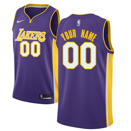 Youth Adidas Los Angeles Lakers Customized Authentic Purple Road NBA Jersey 5aae213d7
