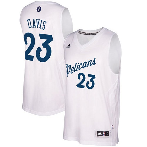 c4b935b61 Men s Adidas New Orleans Pelicans  23 Anthony Davis Authentic White  2016-2017 Christmas Day