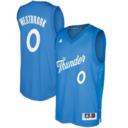 9d60a4910057 Men s Adidas Oklahoma City Thunder  0 Russell Westbrook Authentic Royal  Blue 2016-2017 Christmas
