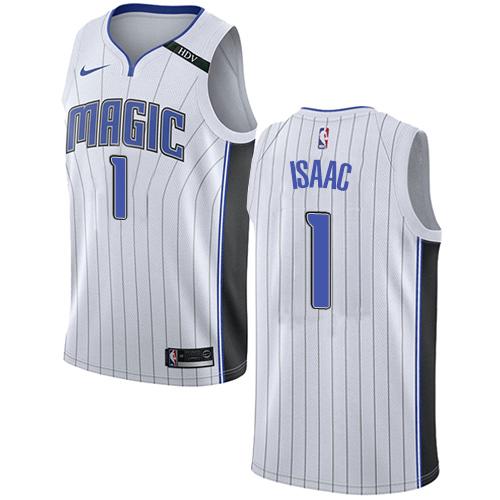 7a94ec85e19 Men s Adidas Orlando Magic  1 Jonathan Isaac Authentic White Home NBA Jersey