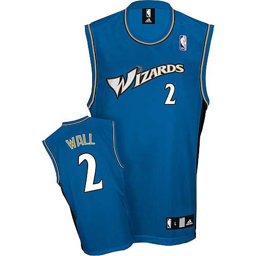 Men s Adidas Washington Wizards  2 John Wall Authentic Blue NBA Jersey 8c58d3d70