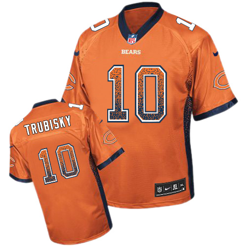 031e4240742 Men's Nike Chicago Bears #10 Mitchell Trubisky Elite Orange Drift Fashion  NFL Jersey