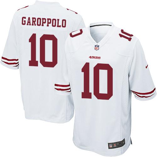 c783eeb93 Men s Nike San Francisco 49ers  10 Jimmy Garoppolo Game White NFL Jersey