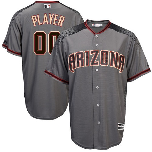 Men's Majestic Arizona Diamondbacks Customized Replica Grey Road Cool Base MLB Jersey