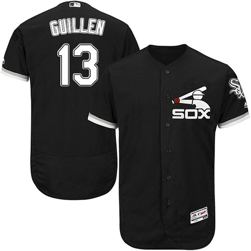 Men's Majestic Chicago White Sox #13 Ozzie Guillen Black Flexbase Authentic Collection MLB Jersey