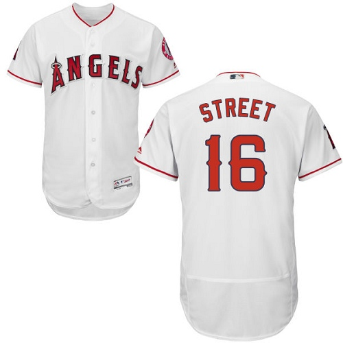 Men's Majestic Los Angeles Angels of Anaheim #16 Huston Street Authentic White Home Cool Base MLB Jersey