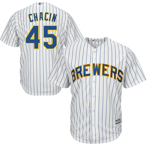 Men's Majestic Milwaukee Brewers #19 Robin Yount White Flexbase Authentic Collection MLB Jersey