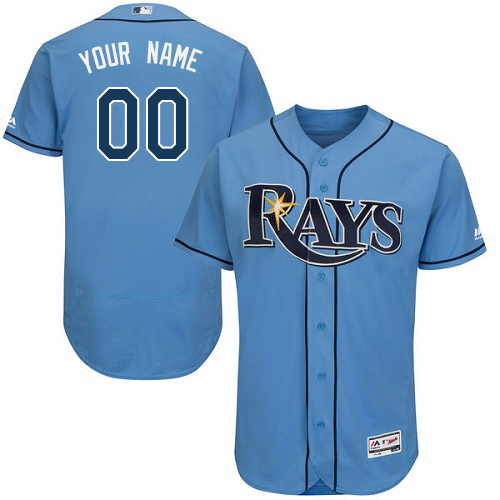 Men's Majestic Tampa Bay Rays Customized Alternate Columbia Flexbase Authentic Collection MLB Jersey
