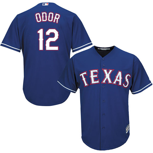Men's Majestic Texas Rangers #12 Rougned Odor Replica Royal Blue Alternate 2 Cool Base MLB Jersey