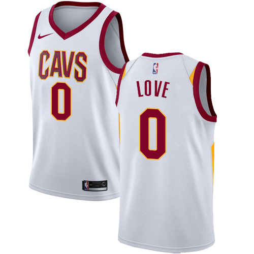 Men's Nike Cleveland Cavaliers #0 Kevin Love Swingman White Home NBA Jersey - Association Edition