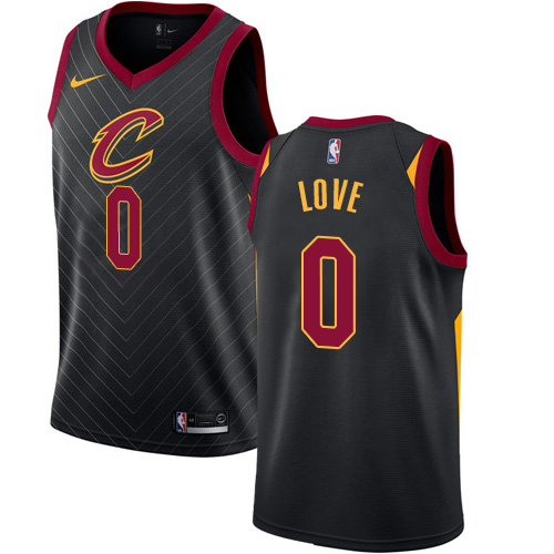 Men's Nike Cleveland Cavaliers #0 Kevin Love Authentic Black Alternate NBA Jersey Statement Edition