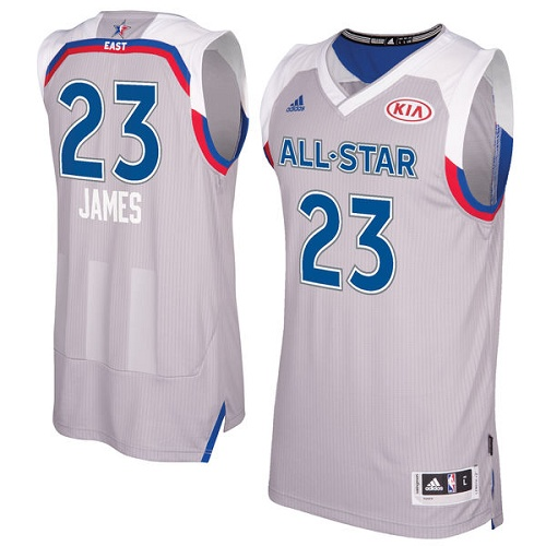 Men's Adidas Cleveland Cavaliers #23 LeBron James Swingman Gray 2017 All Star NBA Jersey