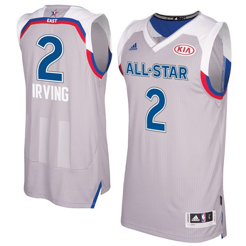 Men's Adidas Cleveland Cavaliers #2 Kyrie Irving Authentic Gray 2017 All Star NBA Jersey