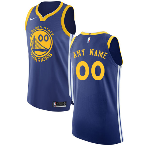 Men's Nike Golden State Warriors Customized Authentic Royal Blue Road NBA Jersey - Icon Edition