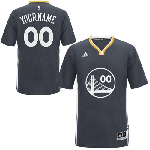 Men's Adidas Golden State Warriors Customized Authentic Black Alternate NBA Jersey