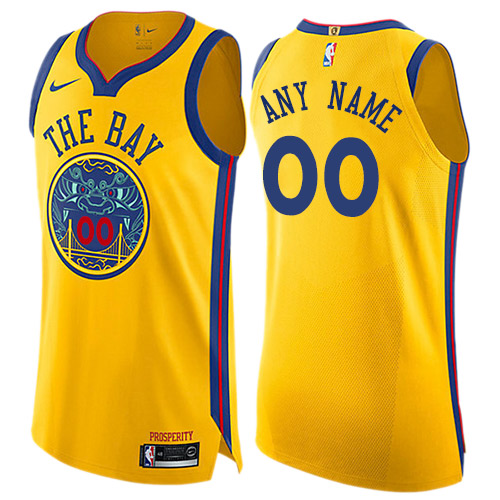 Youth Adidas Golden State Warriors Customized Swingman Gold Alternate NBA Jersey
