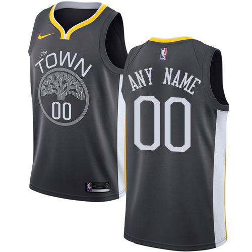 Youth Nike Golden State Warriors Customized Swingman Black Alternate NBA Jersey - Statement Edition