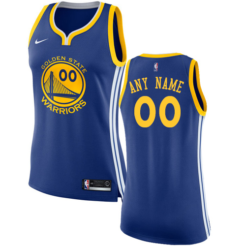 Women's Nike Golden State Warriors Customized Authentic Royal Blue Road NBA Jersey - Icon Edition