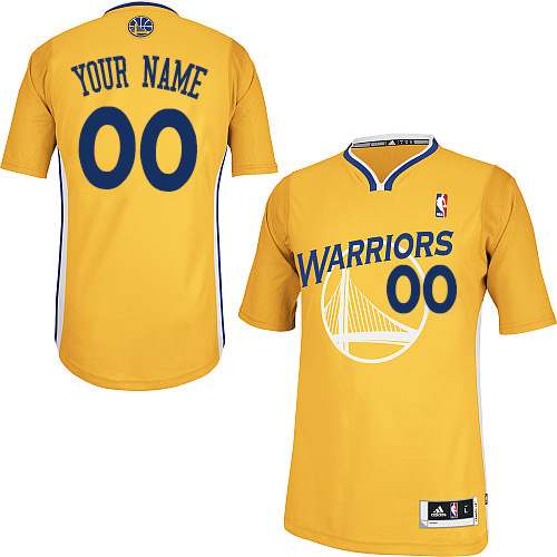 Women's Adidas Golden State Warriors Customized Authentic Gold Alternate NBA Jersey