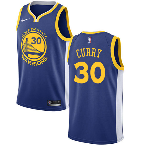 Men's Nike Golden State Warriors #30 Stephen Curry Swingman Royal Blue Road NBA Jersey - Icon Edition