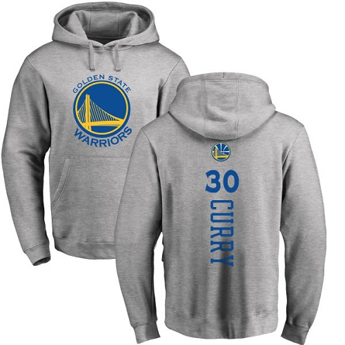 NBA Nike Golden State Warriors #30 Stephen Curry Ash Backer Pullover Hoodie
