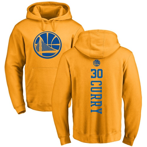 NBA Nike Golden State Warriors #30 Stephen Curry Gold One Color Backer Pullover Hoodie