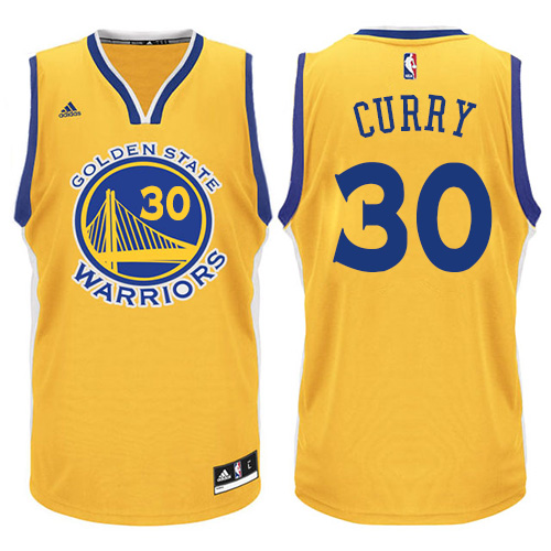Men's Adidas Golden State Warriors #30 Stephen Curry Authentic Gold NBA Jersey