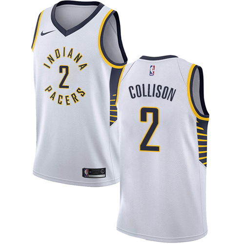 Men's Adidas Indiana Pacers #2 Darren Collison Authentic White Home NBA Jersey