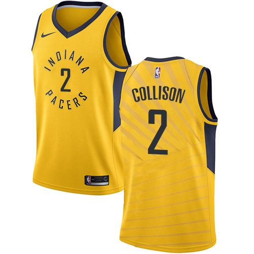 Men's Adidas Indiana Pacers #2 Darren Collison Authentic Gold Alternate NBA Jersey