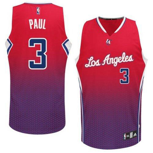 Men's Adidas Los Angeles Clippers #3 Chris Paul Authentic Red Resonate Fashion NBA Jersey