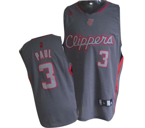 Men's Adidas Los Angeles Clippers #3 Chris Paul Authentic Grey Graystone Fashion NBA Jersey