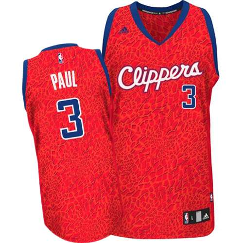 Men's Adidas Los Angeles Clippers #3 Chris Paul Authentic Red Crazy Light NBA Jersey