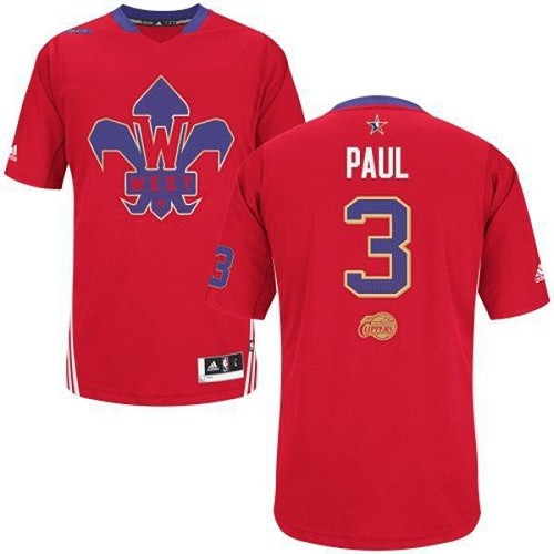 Men's Adidas Los Angeles Clippers #3 Chris Paul Authentic Red 2014 All Star NBA Jersey