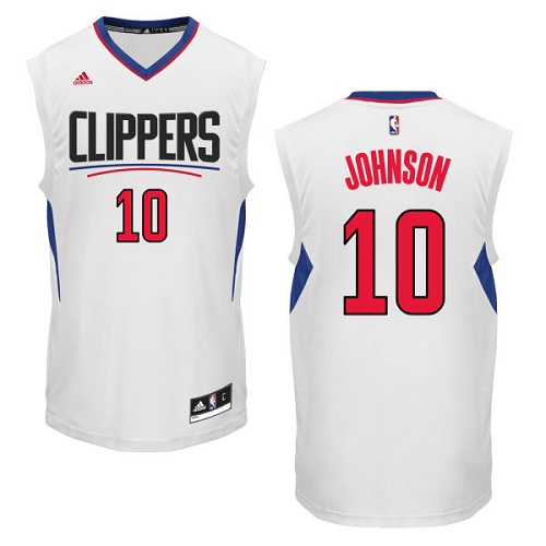 Men's Adidas Los Angeles Clippers #10 Brice Johnson Authentic White Home NBA Jersey
