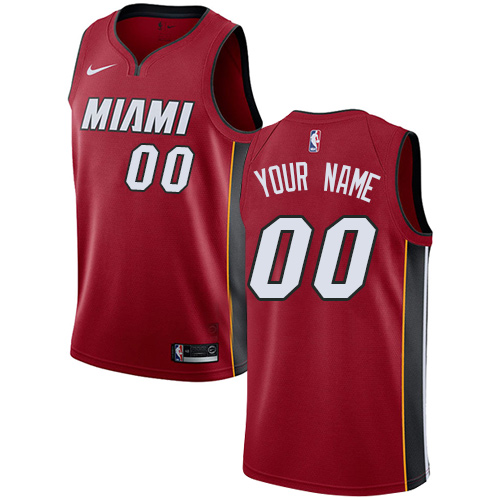 Men's Adidas Miami Heat Customized Authentic Red Alternate NBA Jersey