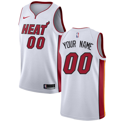 Youth Adidas Miami Heat Customized Authentic White Home NBA Jersey