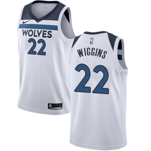 Men's Nike Minnesota Timberwolves #22 Andrew Wiggins Authentic White NBA Jersey - Association Edition