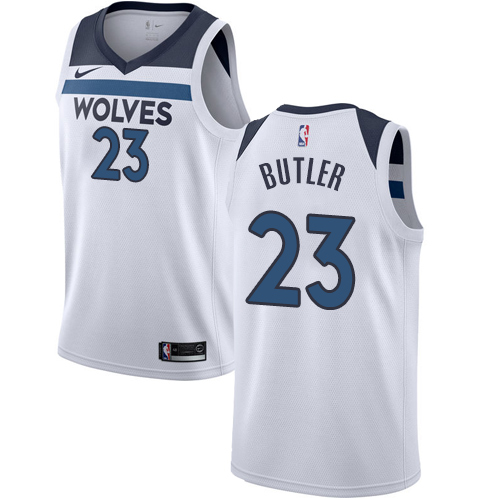 Men's Nike Minnesota Timberwolves #23 Jimmy Butler Authentic White NBA Jersey - Association Edition