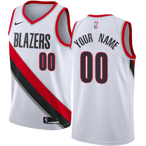 Women's Nike Portland Trail Blazers Customized Authentic White Home NBA Jersey - Association Edition
