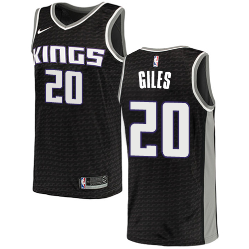 Men's Adidas Sacramento Kings #20 Harry Giles Authentic Black NBA Jersey Statement Edition