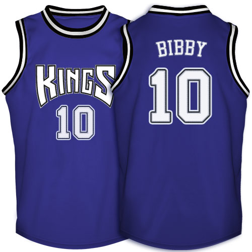Men's Adidas Sacramento Kings #10 Mike Bibby Authentic Purple Throwback NBA Jersey