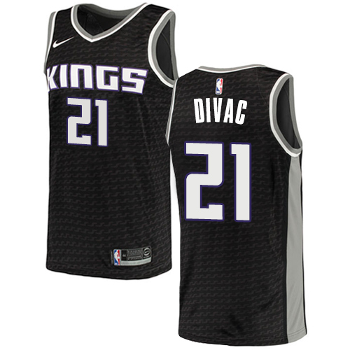 Men's Adidas Sacramento Kings #21 Vlade Divac Authentic Black NBA Jersey Statement Edition