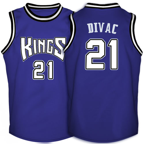 Men's Adidas Sacramento Kings #21 Vlade Divac Authentic Purple Throwback NBA Jersey