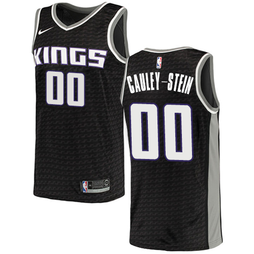 Men's Adidas Sacramento Kings #0 Willie Cauley-Stein Authentic Black NBA Jersey Statement Edition