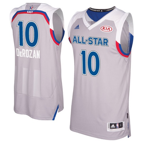 Men's Adidas Toronto Raptors #10 DeMar DeRozan Authentic Gray 2017 All Star NBA Jersey