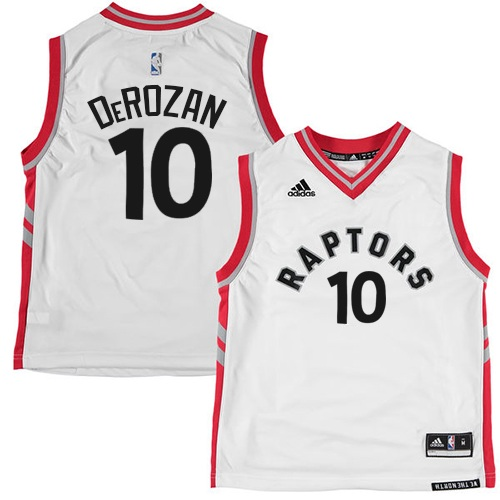 Men's Adidas Toronto Raptors #10 DeMar DeRozan Authentic White NBA Jersey