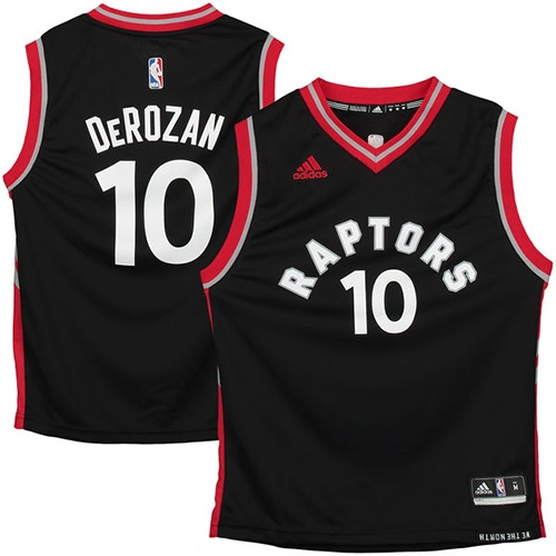 Men's Adidas Toronto Raptors #10 DeMar DeRozan Swingman Black NBA Jersey